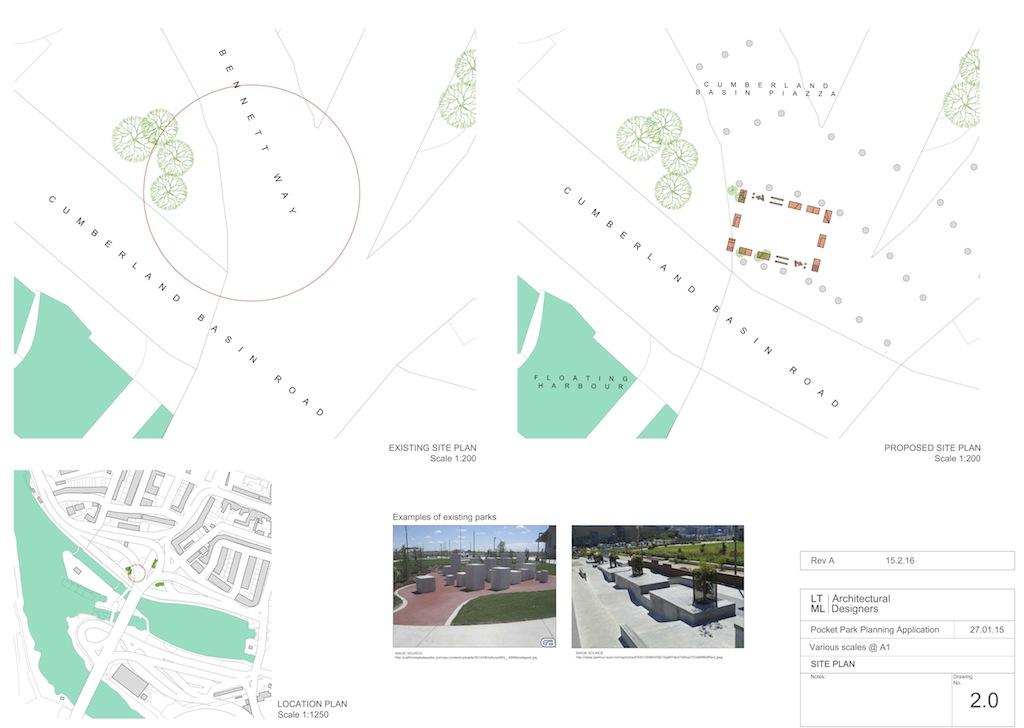 Pocket Park REV A 2.0 Site plan