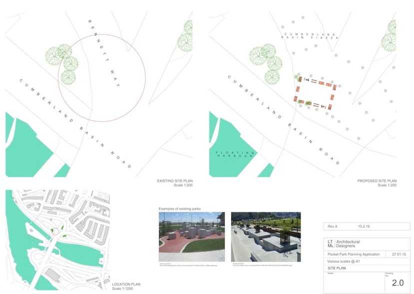 Pocket Park REV A 2.0 Site plan